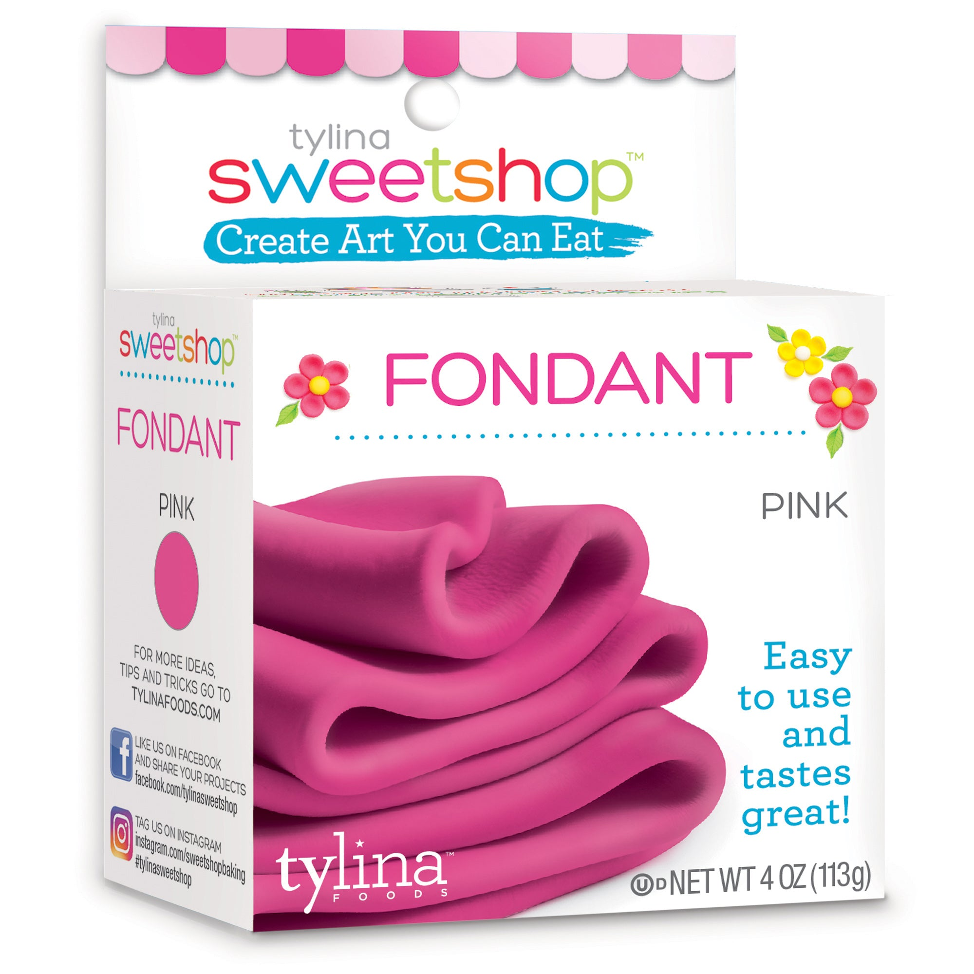 Sweetshop 4 Oz Fondant - Pink