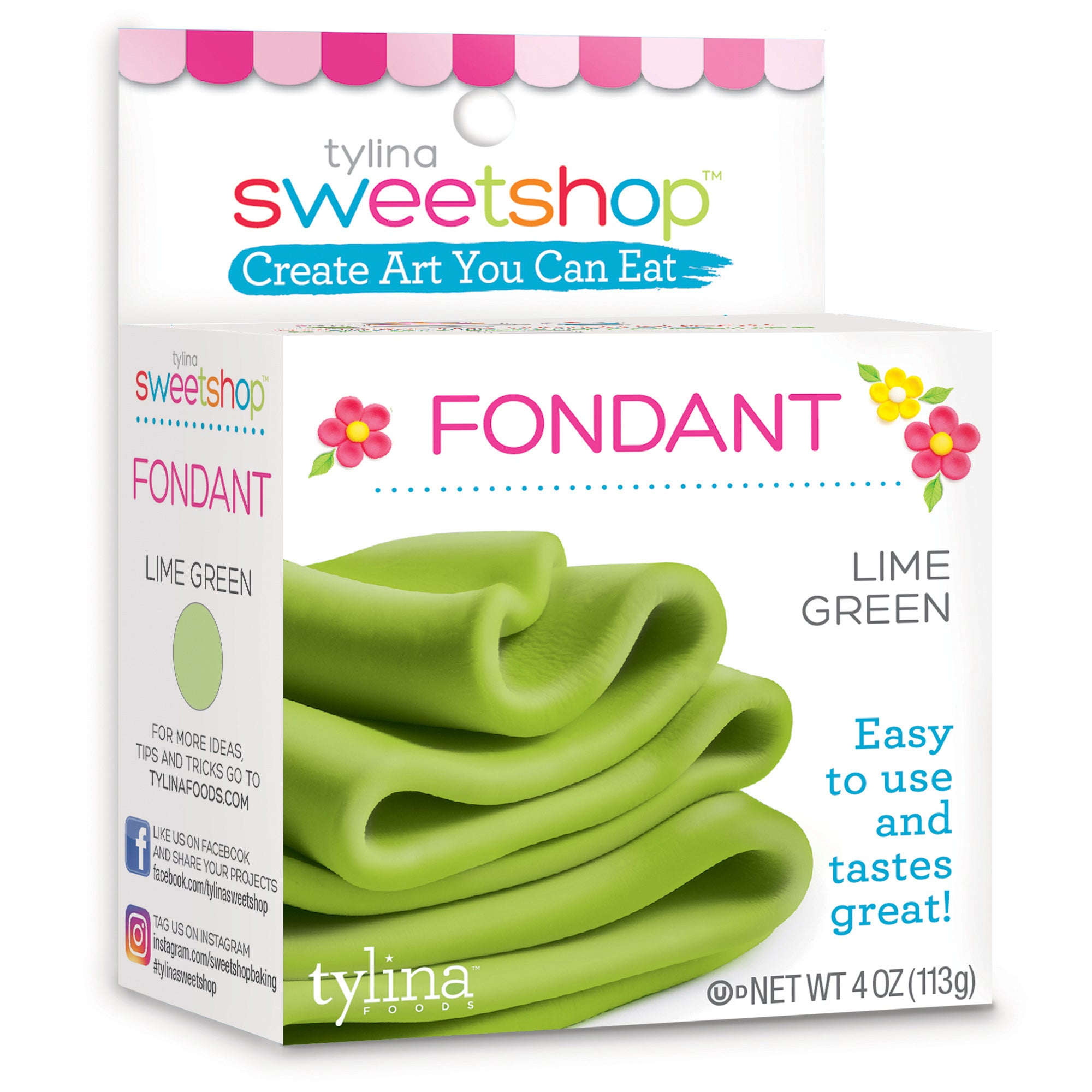 Sweetshop 4 Oz Fondant - Lime Green