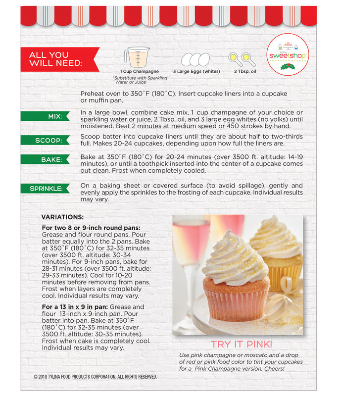 Sweetshop Champagne Cupcake Mix