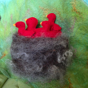Baby Birds and Mama in a Nest - Finger Puppet Magic