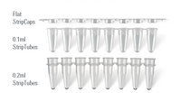 8 Tube Strip PCR Tubes, 125 strips/bag