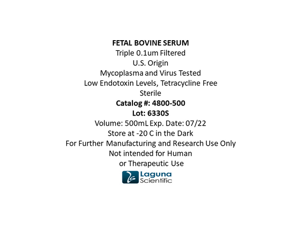 Fetal Serum, Bovine, 100 ml / bottle, US origin