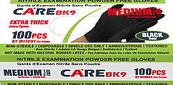 Black Nitrile Exam Powder-Free Gloves, 6 mil, Powder Free Gloves, Medium, 1000/box