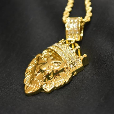 Big boy iced lion king pendant wavey jewelry lion pendant necklace chain aloadofball Choice Image
