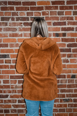 Brown Fleece Hood Coat