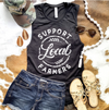Support Local Farmers Tank - Black