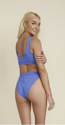 Blue Jewel High Waist - Hi Leg Cut Bottoms