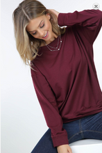 Wine French Twist Longsleeve