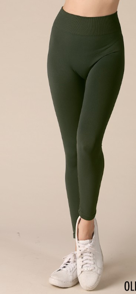Olive Seamless Leggings