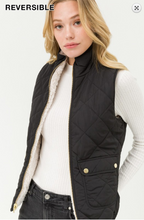 Black Reversible Faux Fur Lined Vest