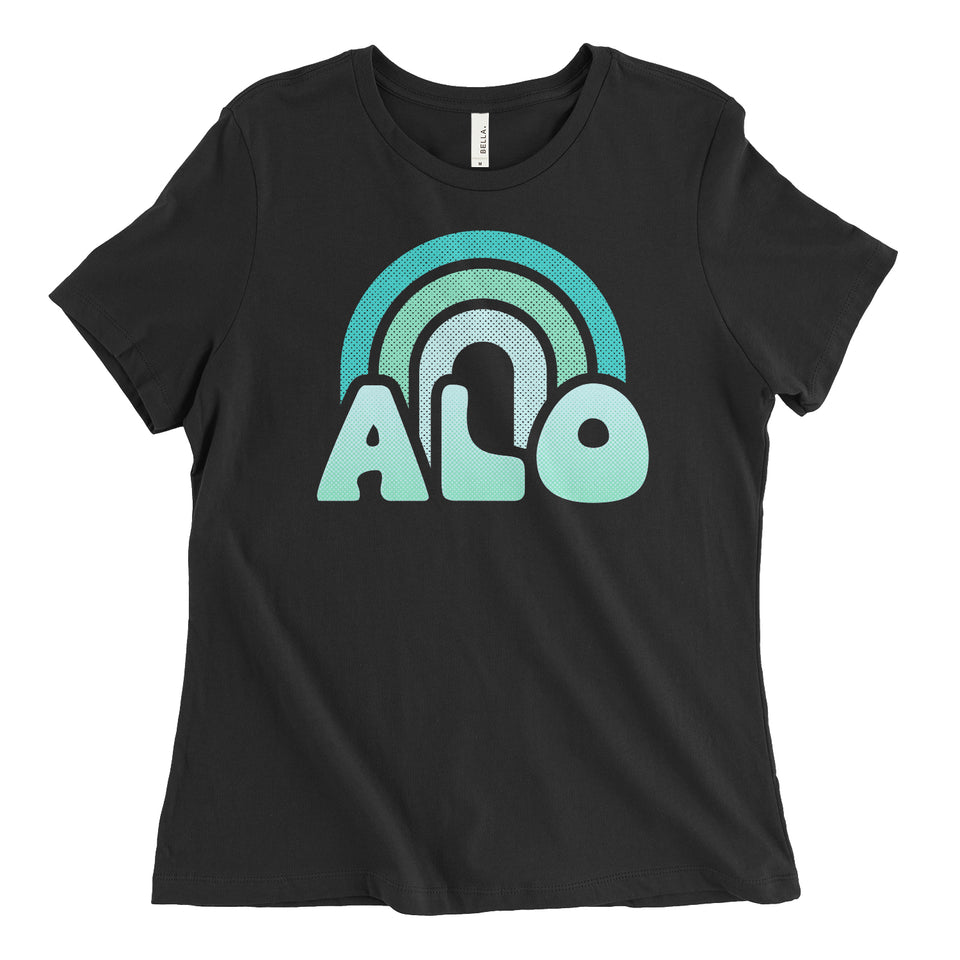 ALO Rainbow Womens Relaxed Tee