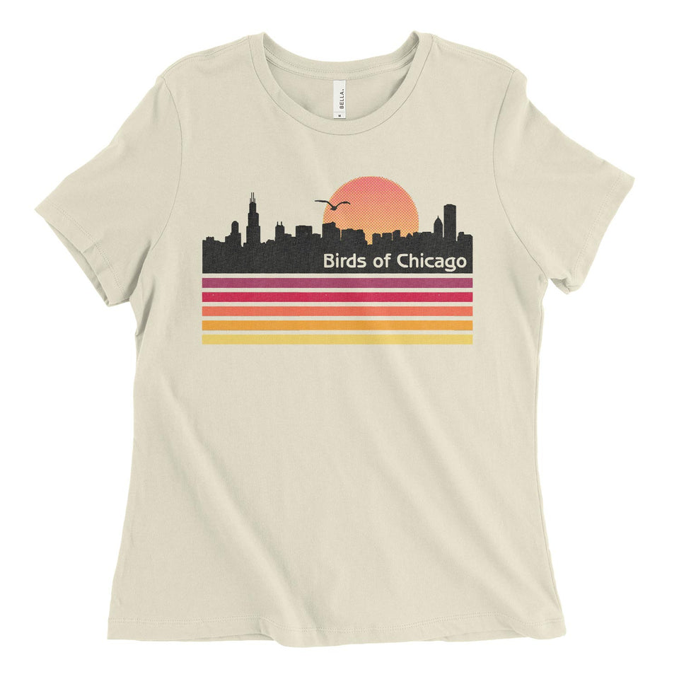 Chicago Skyline Womens Relaxed Tee