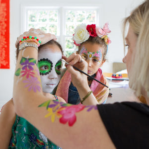 frida kahlo, face paint, sugar skulls, family photography