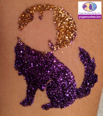 temporary glitter tattoo