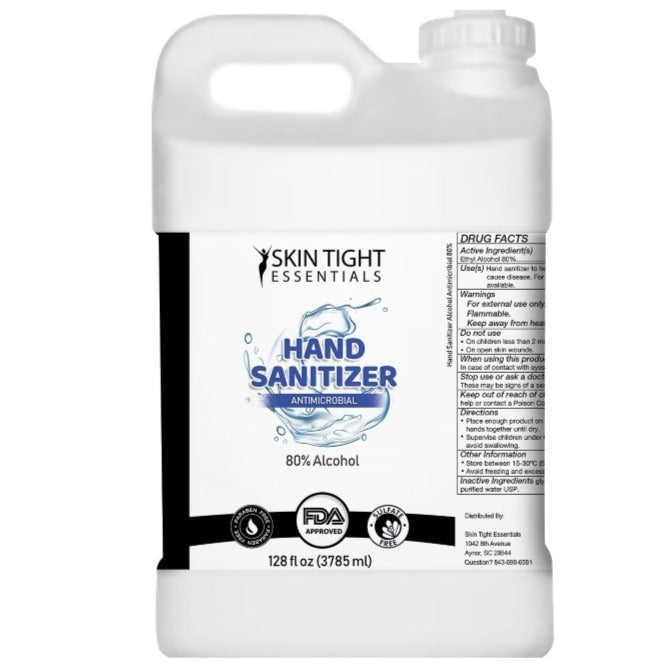80% Alcohol Hand Sanitizer Gel 4 Gallons (Qty 4 of 1 gallon jugs) with 1 pump