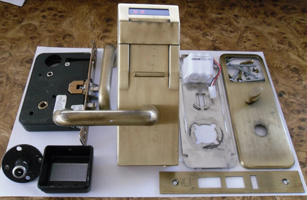 Kaba Ilco 700 Electronic Hotel Room Lock Satin Brass USED