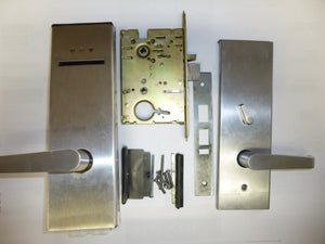 Saflok SL2500 Electronic Hotel Room Lock Satin Chrome USED