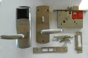 Saflok RT Electronic Hotel Room Lock Satin Chrome USED