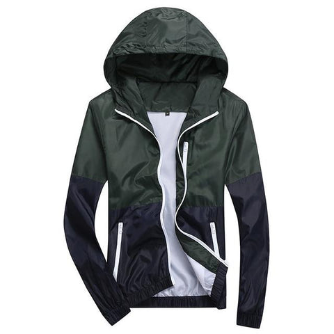 Casual Thin Windbreaker Hooded Jacket - HighStreetFashionStore