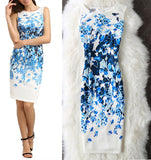 Elegant Floral Vintage Bodycon Dress - HighStreetFashionStore