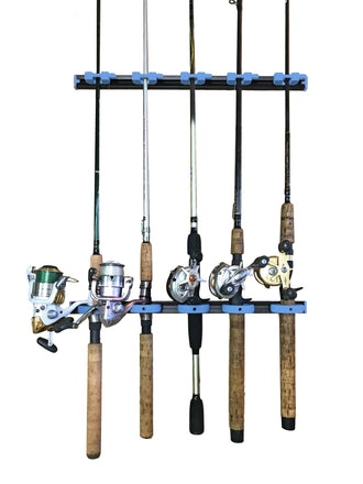 RodRail Fishing Rod Modular and Expandable Rack Blue