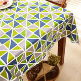 Svetanya Canvas Dining Table Desk Cover Coffee Tablecloths with Flower Pattern