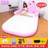 The tatami mattress Totoro Beanbag double couple household portable inflatable bed mattress cartoon bear on the floor