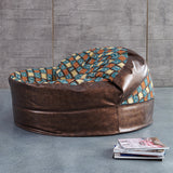 Antique round bean bag   sofa living room chair leisure furniture  ottoman made in China by DHL