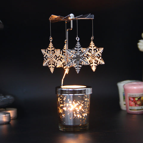 Aromatherapy Candle Holders European Iron Windmill Rotating Lantern Bird Candlestick Candlelight Dinner Cup Props
