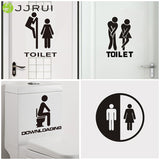 JJRUI Hot Removable DIY Toilet Seat WC Bathroom Waterproof Art Vinyl Home Decals Decor Wall Sticker  GOLD 21 COLOR