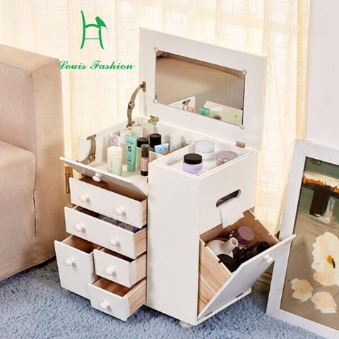 Dresser dressing ark contracted and contemporary wood mini ark Korea storage clamshell makeup to receive a table