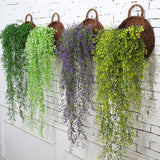 115cm 1pc Artificial Ivy Leaf Artificial Plants Green Garland Plants Vine Fake Foliage Home  Christmas Wedding Decoration V4170