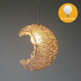 ASCELINA moon lighting home decoration rustic pendant lamp stair balcony Pendant light child Rustic rattan balcony lamps bar