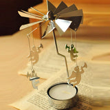1 PC Candle Holders Revolving Door Windmill Rotation Candlestick Candle holder Candle Tea Light Holder Holiday Decor