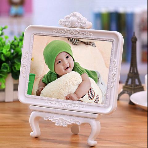 7 inch Europe Retro Vintage White  Photo Frame Picture frame Home Wedding Decoration Gifts