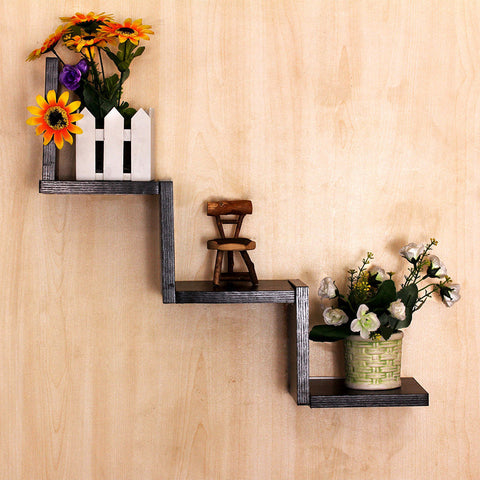 Creative Home Living Room Decor Shelves Floating Shelves Wall Mounted Bookcase Hanger Storage Display Organizer Holders Racks