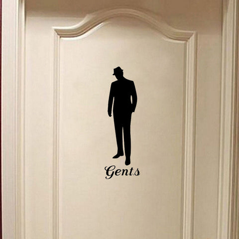Stylish Vintage Man Woman Toilet Door Sticker Creative Home Decoration Decal Wall Sticker A2203