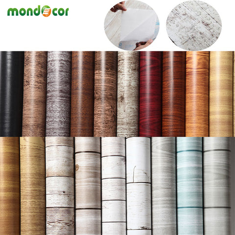 10M kitchen wood self adhesive PVC wallpaper films Refurbished Wardrobe clothes cupboard door desktop furniture wall stickers