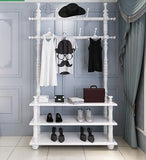 Coatrack hallway shelf. Multi-function bedroom clothes hanger