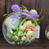 1PC 60/80/120MM Hanging Tealight Holder Glass Globes Terrarium Wedding Candle Holder Candlestick Vase Home Hotel Bar Decoration
