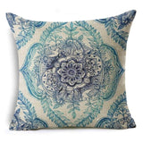 Cotton Linen Decorative Pillow Covers Bohemian Pillow Cases Square Sofa Throw Pillowcases Boho Seat Cushion Covers 45*45cm