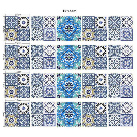 20 Pcs/Set Waterproof PVC DIY Mosaic Wall Tiles Stickers Waist Line Wall Sticker Kitchen Adhesive Bathroom Toilet  Wallpaper