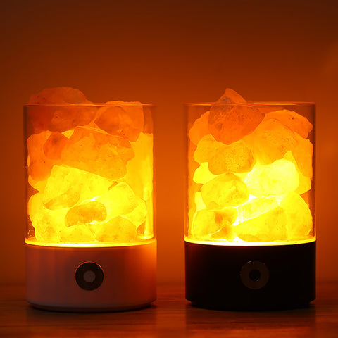 New Arrival Colorful USB Power Supply Natural Himalayan Salt Lamp Unique Crystal Salts Night Light For Indoor Bedroom Decoration
