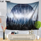 LzL Home Home Decor Nordic Forest Tapestry Polyester Fabric Wall Hanging Throw Boho Door Curtain Dorm Mat Home Decor Accessories