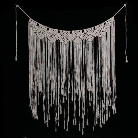 Handmade Tassel Macrame Hanging Decorations Vintage Bohemian Wall Tapestry Wedding Ceremony Living Room Decor Macrame