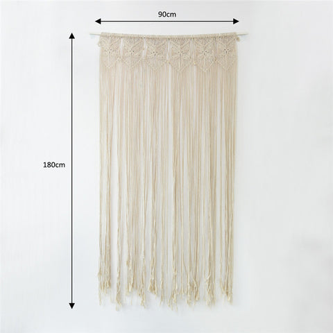 Super Huge Handcrafted Macrame Hanging Drop Cotton Thread Bohemian Style Wall Hanging Retro Wedding Backdrop Home Decor 90*180cm