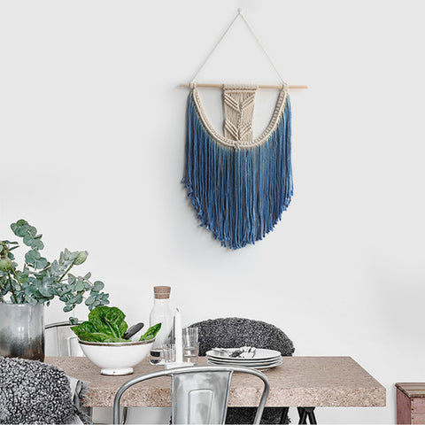 Macrame Wall Art Handmade Cotton Wall Hanging Tapestry for home decoration or wedding scene Bohemia boho wall hanging