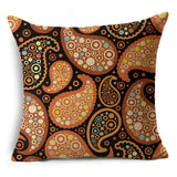 Boho Paisley Decorative Pillow Covers Square Sofa Throw Pillowcases Cotton Linen Pillow Cases Seat Cushion Covers 45*45cm