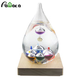 Retro GALILEO Glass Thermometer Weather Forecast Water Droplets Bottle Tube Ornament Temperature Desktop Home Office Decoration