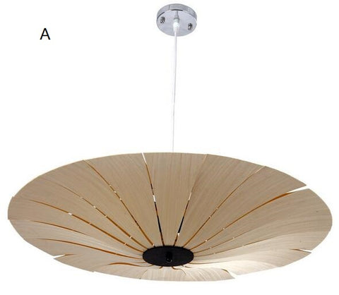 Bamboo Veneer pendant lights unique living room restaurant club hotel wooden Loft Garden Terrace pendant lamps ZA
